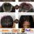 ALICROWN Rizado Superior Peluca Glueless Pelucas Llenas Del Cordón Con El Pelo Del Bebé para Las Mujeres Negras 10a Brasileño Rizado Peluca Del Frente Del Cordón Nudos Blanqueados