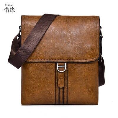 XIYUAN marque hommes messenger sacs de luxe en cuir homme sac designer de haute qualité sac à bandoulière décontracté zipper sacs de bureau pour hommes