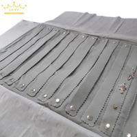 FREE SHIPPING Travel Jewelry Roll Bag For 60 Pairs Of Earrings Jewelry Travel Case