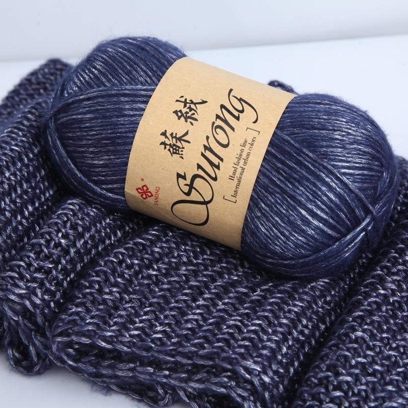 100g/ball 325m Silk Cotton Knitting Yarn Crochet Needlework Thick Wool Thread Yarn For Hand Knitting Scarf Sweater Eco friendly Yarn  - AliExpress