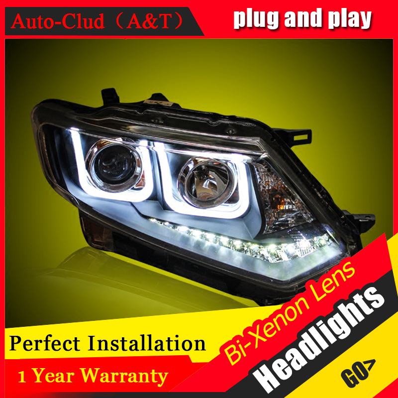 Car Styling For Nissan X-Trail led headlights For X-Trail head lamp Angel eye led DRL front light Bi-Xenon Lens xenon HID KIT front right lower control arm fits for nissan x trail t30 2001 2007 54500 8h310