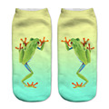 Animal Divertido de Alpaca Marrón Perro de Dibujos Animados Búho Gatos 3D Imprimir calcetín mujeres Harajuku Girls Low Cut Tobillo Calcetines de Algodón Lindo Calcetines de la Calcetería