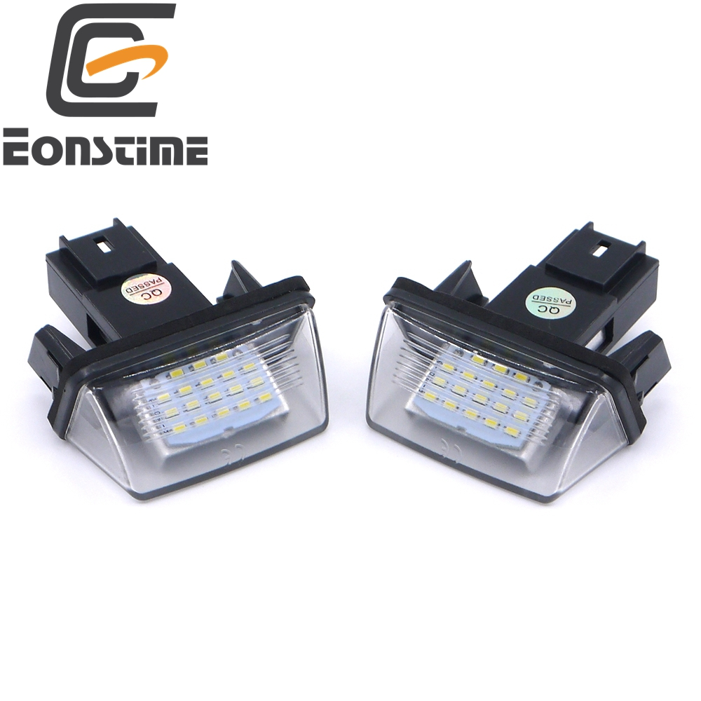 Eonstime 12V 2pcs ERROR 18 LEDs LICENSE NUMBER PLATE LIGHT Bulbs FOR PEUGEOT 206 207 307 308 406 407 5008 Citroen  C3 C3 C4 C5 2pcs led license number plate light for peugeot 206 207 306 307 308 5008 406 407 for citroen picasso c3 c4 c5 c6 saxo xsara