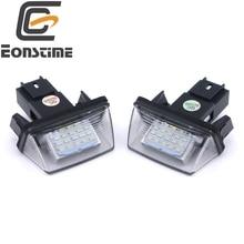 Eonstime 12V 2pcs ERROR 18 LEDs LICENSE NUMBER PLATE LIGHT Bulbs FOR PEUGEOT 206 207 307 308 406 407 5008 Citroen  C3 C3 C4 C5