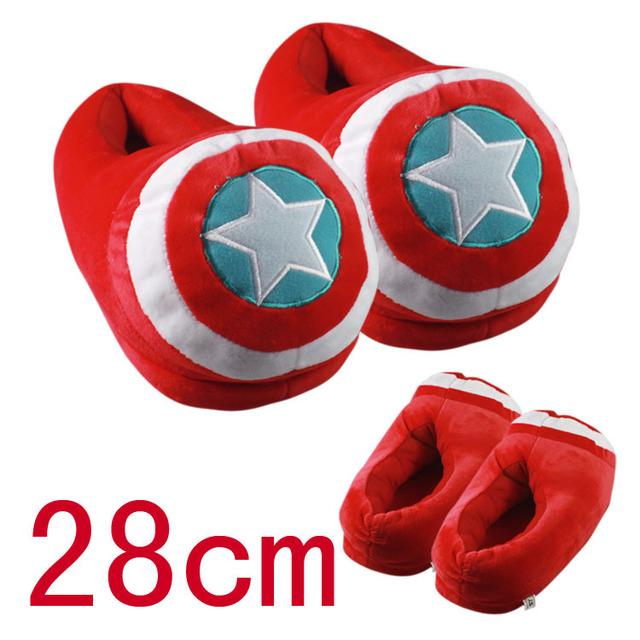 1 Par de Capitán América shield cosplay Zapatos de interior zapatillas de Felpa de Invierno Cálido Adultos Zapatilla de Juguete de Regalo de Navidad