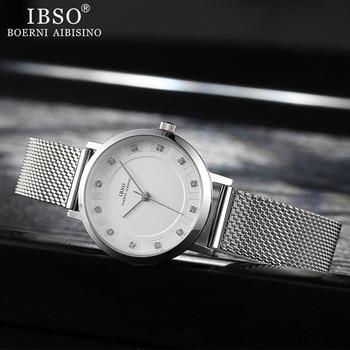 IBSO Women Quartz Watch Set Crystal Design Bracelet Necklace Watch Sets Female Jewelry Fashion Silver Luxury Watch Lady's Gift 4