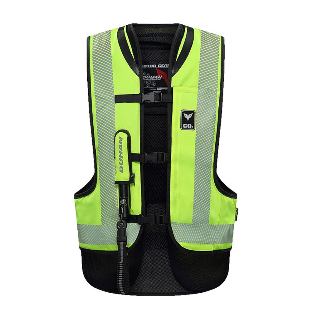 DUHAN Motorcycle Air bag Vest Advanced Vest MotorcycleAir Bag System Protective Gear Reflective Motorbike Airbag Moto Vest