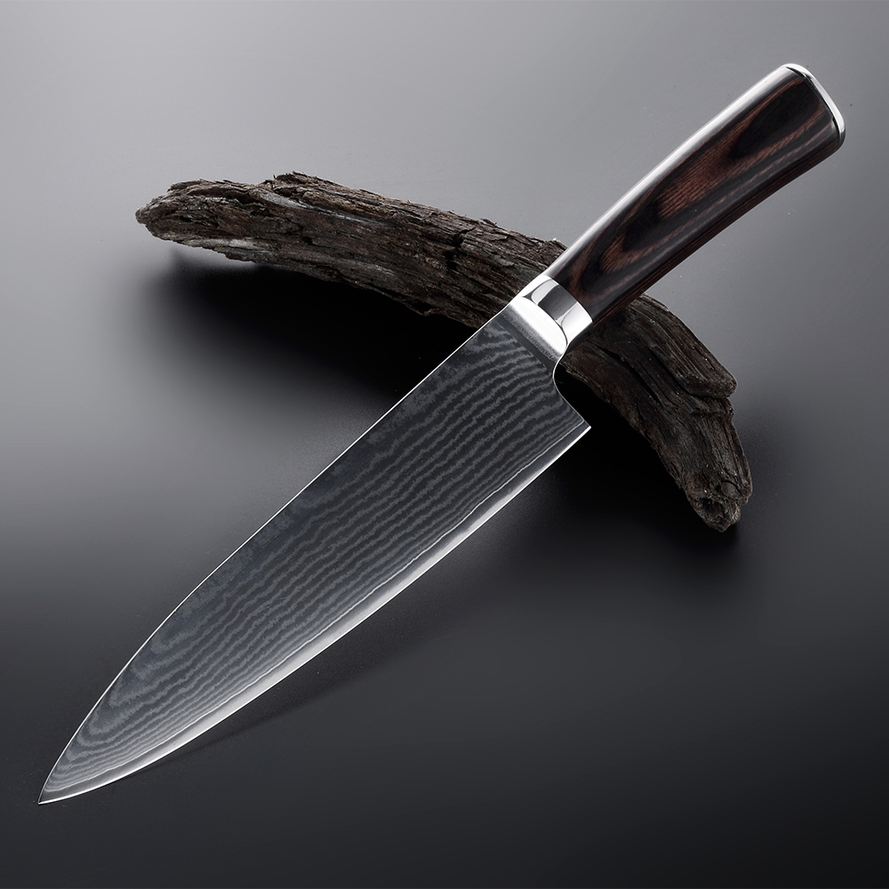 7 chef knives VG 10steel core 67 layers damascus knives kitchen knife damascus knives Siam Rosewood