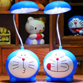 Cute KT cat energy-saving LED night light eye protection Rechargeable folding table lamp student bedroom reading desk lamp