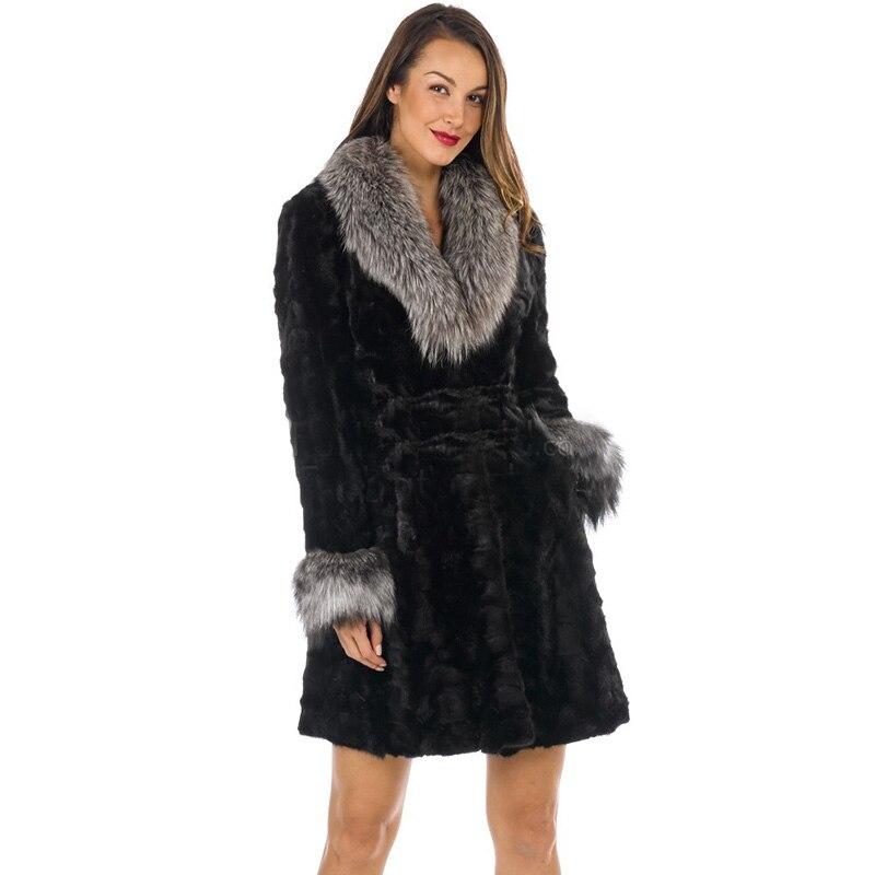 Les Renard Épais Topfur Col Naturel Femmes Véritable Arrivée Fourrure Silver Manteau Avec Fox De Vison Chaud Pour Réel Veste D'hiver Nouvelle qx7wa1UqA