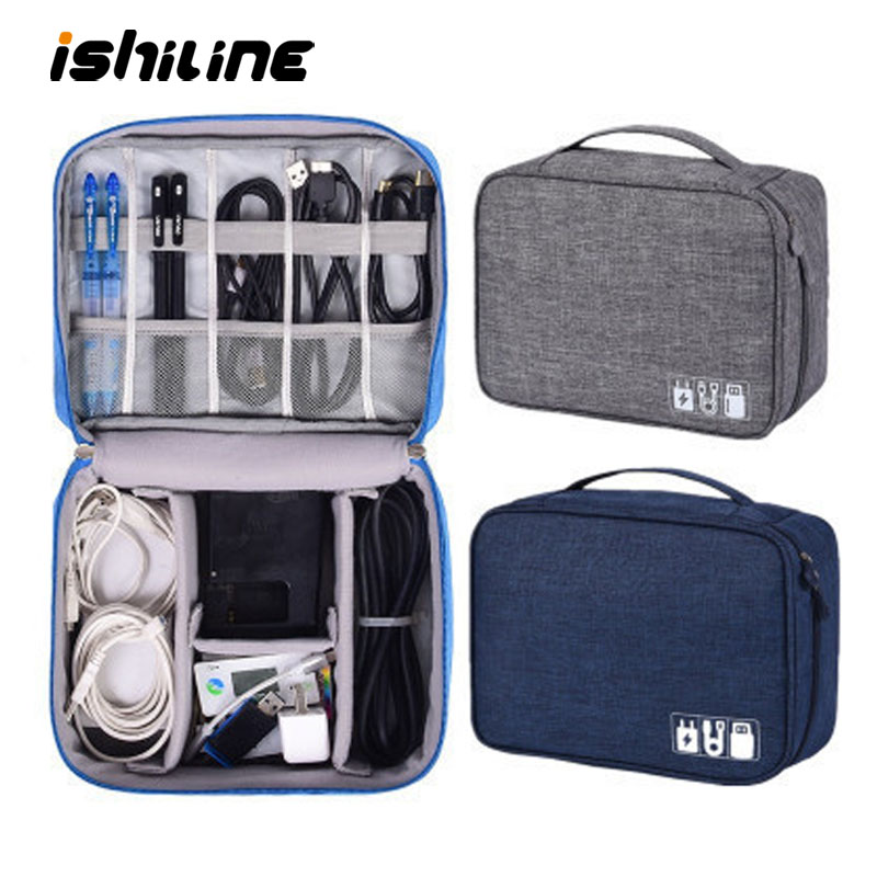 Travel Cable Organizer Waterproof Gadget Storage Bag USB Charger Holder Digital Kit Bag Electronics Devices Accessories Cases