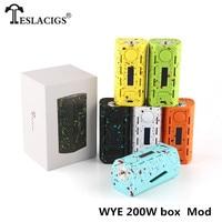 TESLACIGS Vape Box Mod Tesla WYE 200W Mod Kit 45A USB:5V/1.5A Max Output Current e cigarette Mod 6 colors Available 200W Mod