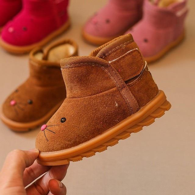 6084046ec4de Children Shoes Warm Baby Ankle Snow Boots Infant Warm Fleece Baby Shoes For  Boys Girls Kids Shoes 21-25 Sizes