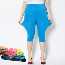 Summer style High Quality big elastic Plus size Big Size Candy Color Modal Mid-Calf leggings women pants