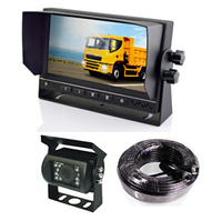 7 Inch Sunvisor Car monitor HD 800*(RGB)*480dots HD rear view camera IR LED 20 M aviation cable heavy duty safe parking