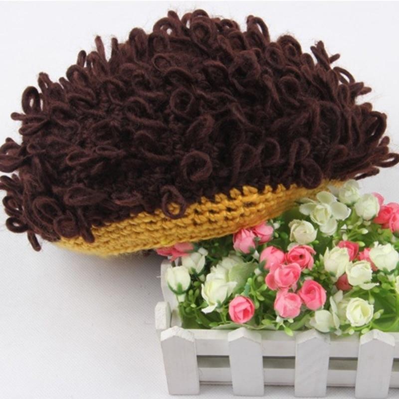2018 Casual Children Wig Hat Handmade Wool Wavy Hair Afro-hair Female Cap Headdress Turban Hair Accessories