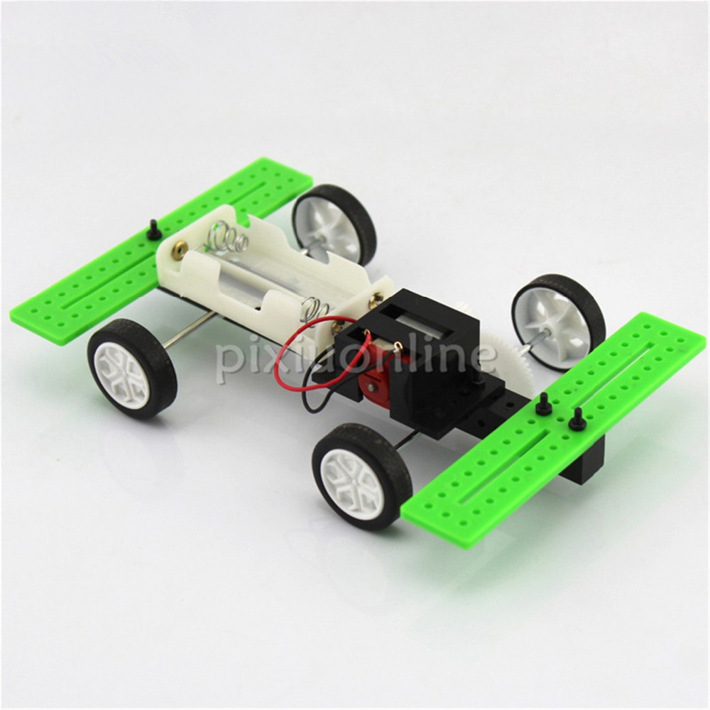 1suit J272Y High Speed Two Wheel Driving Model Car DIY Assemble Teaching and Experiment Using Toys