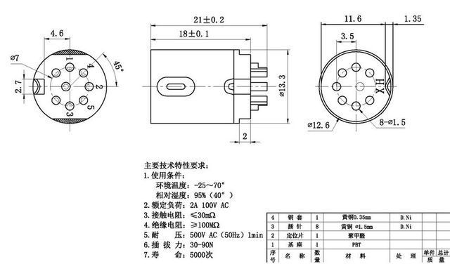 Aliexpress Com Buy Din Socket 8 Pin Male Inline Din 8