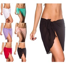 Women Beach Sarong Bikini Cover-ups Chiffon Wrap Pareo Skirts Comfortable Lightweight Swimwear Cover Ups