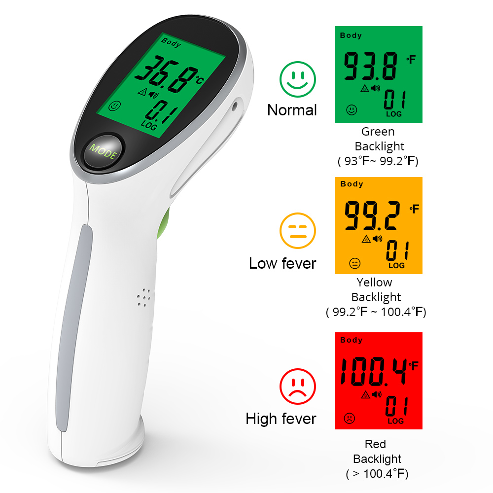 Yongrow Digital Portable Infrared Thermometer Temperature Gun Non-contact Laser Baby Fever Temperature For Body & Surface