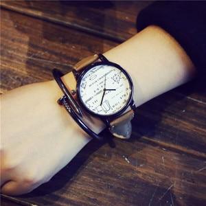 Часы в стиле Харадзюку, модные мужские и женские кварцевые часы в стиле ретро, наручные часы BGG с кожаным ремешком