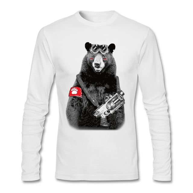Cool Bear Rebel T Shirt Male Crewneck Funny Tee Shirts Cheap Price ...