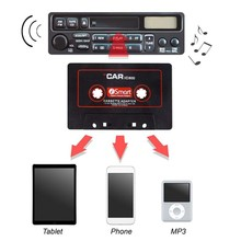 Автомобильный Кассетный адаптер Кассетный Mp3 плеер конвертер для iPod для iPhone MP3 AUX кабель CD плеер 3,5 мм разъем 9449