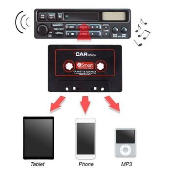 Samochód kaseta magnetofonowa Adapter kaseta Mp3 konwerter odtwarzacza dla ipoda dla iphone #8217 a MP3 przewód AUX odtwarzacz CD wtyczka jack 3 5mm 9449 tanie i dobre opinie Ozio none 2 5 Angielski Video cd Black Cassette Player Adapters55 0 07 10 *6cm 3 9*2 4 PEUGEOT 2008 2015