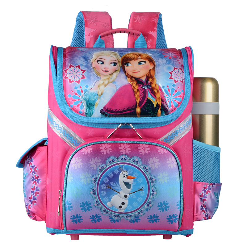 New Girls Cartoon Backpack School Bag Orthopedic Children Schoolbag Anna Elsa Backpack Mochila InfantilNew Girls Cartoon Backpack School Bag Orthopedic Children Schoolbag Anna Elsa Backpack Mochila Infantil