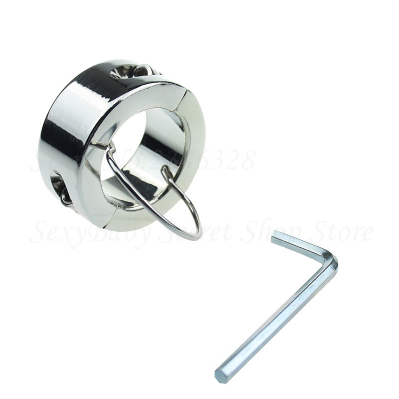 Metal Screw Locking Penis Rings,Scrotum Testicle Stretched Lock,Cock Ring,Cock Clamp,Adult Game Toys for Male Chastity Device