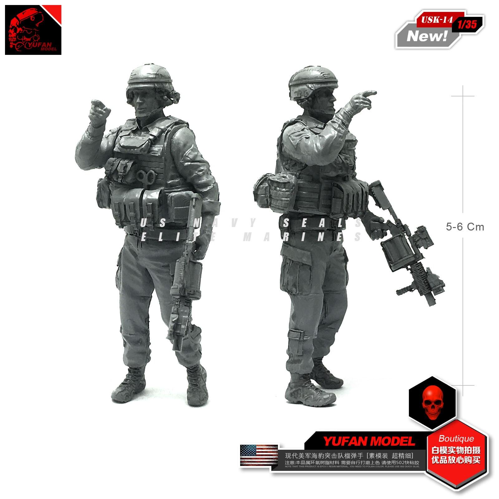 Modèle Yufan 1/35 moderne Us joint Grenade main résine soldat modèle Usk-14