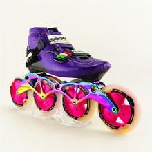High Quality Professional font b Speed b font Skating Shoes Adults Roller font b Skate b