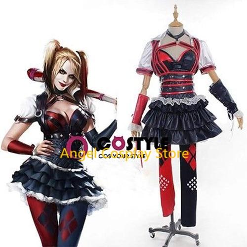 Batman Arkham Asylum City Knight Harley Quinn Uniform Party Dress Skirt Costume Cosplay Any Size NEW
