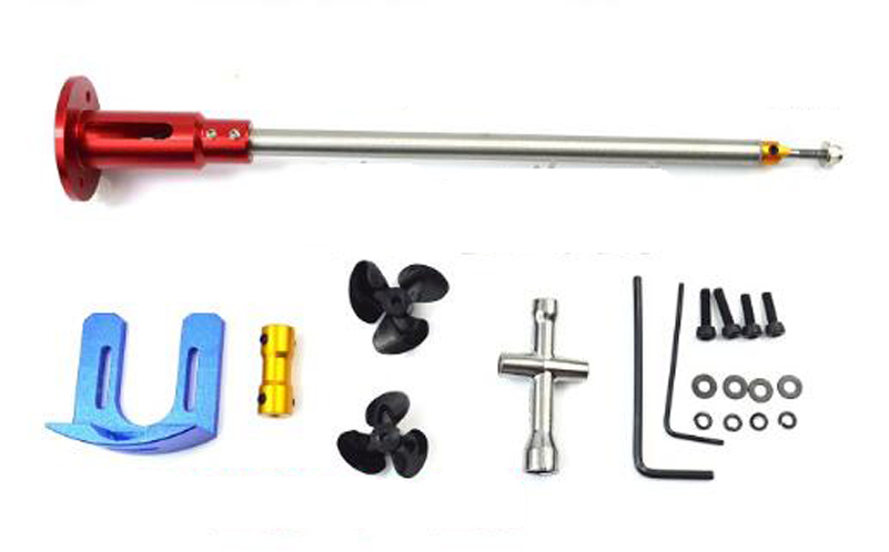 1set 540 Motor Seat Shafting System Assembly 220mm/270mm RC Boat Propulsion System Accessories 25mm Hole sending Propeller Parts hireko fast setting shafting epoxy