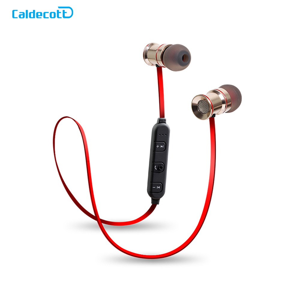 Wireless Bluetooth Earphones With Mic Metal Magnetic Stereo Earbuds Sport Dj Bass Music Earphone For Phone Neckband Ecouteur