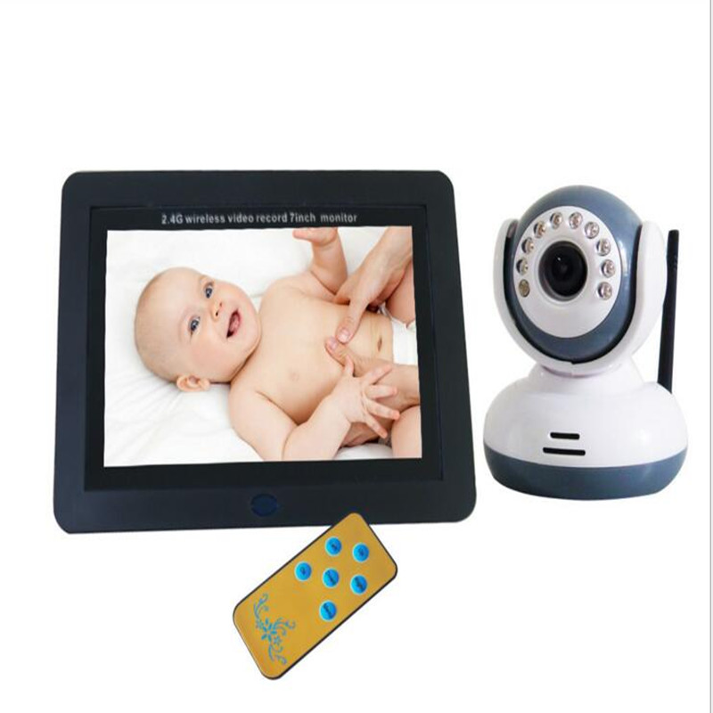 7 Inch Digital Wireless Video+Receiver Baby Monitor DVR Wireless Baby Care DVR BABY MONITOR Support 32G SD Card