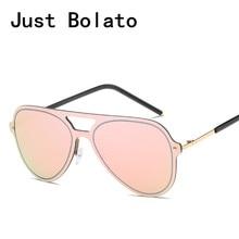 Bolato clásico aviación Gafas de sol mujer rosa espejo Gafas de sol moda  vintage señora oversize pilot Sol Gafas para los hombre. 9408901b223d