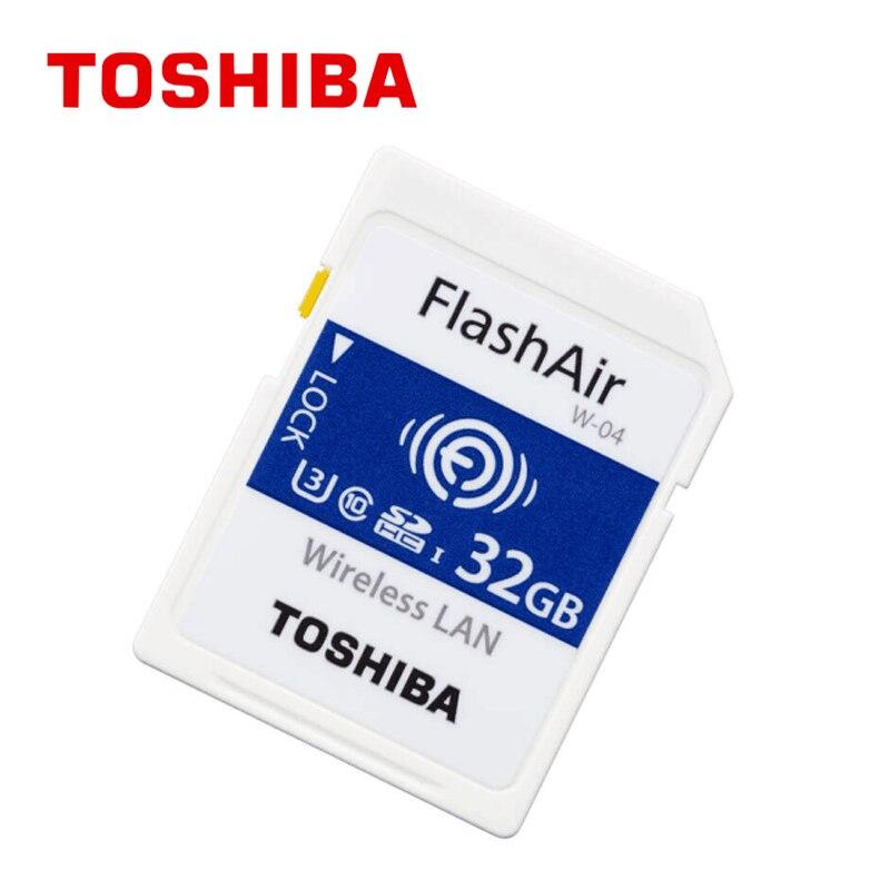 Meilleure vente en gros Flash Air W-04 carte mémoire 32 GB Wifi carte SD sans fil SDHC carte mémoire SD WIFI SD pour caméra livraison gratuite