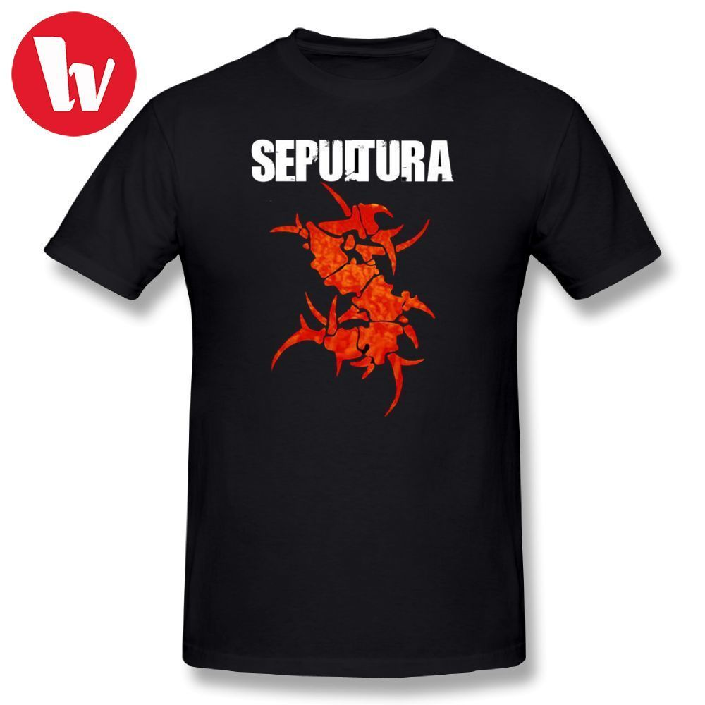 Sepultura T Shirt Men Print Cotton T Shirt Funny Short Sleeve Summer Man Casual  T Shirts Beach Tee