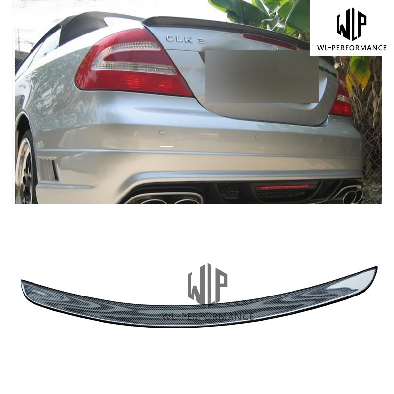<font><b>W209</b></font> Quality Carbon Fiber Rear <font><b>Spoiler</b></font> Wing Car Styling For Mercedes-Benz CLK Class <font><b>W209</b></font> CLK280 CLK320 CLK350 Body Kit 2003-UP image