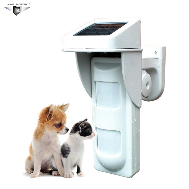Outdoor PIR Motion Sensor Wireless Dual Motion Detector 433MHz Solar Power Dual Home Alarm Pet Immune Waterproof Panel PIR-100D цена