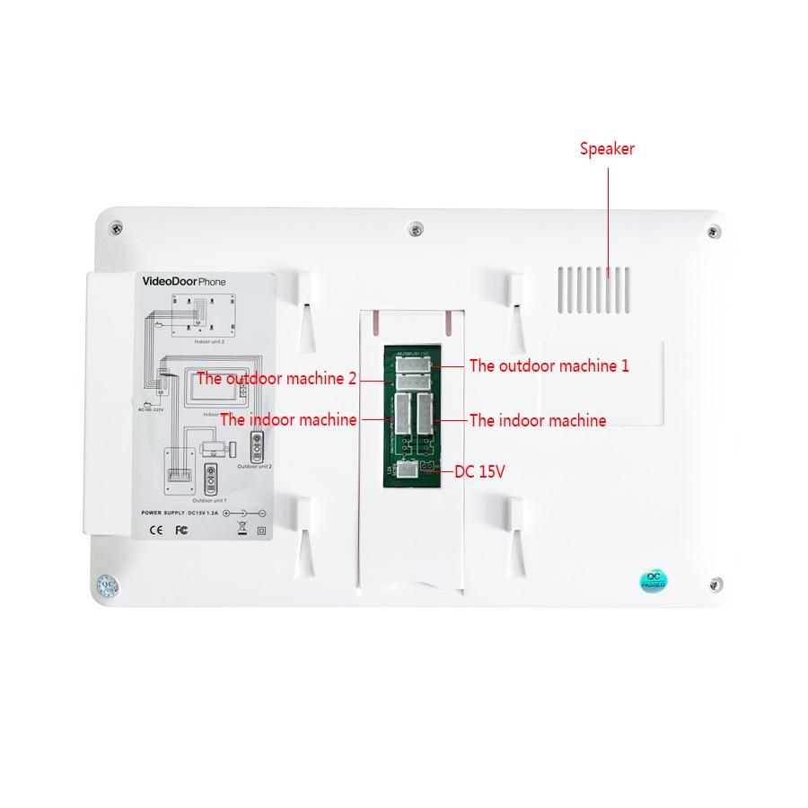 JERUAN 7`` LCD Video Doorbell Voice/Video Recording Intercom System kit 3 monitors + Waterproof password Access Mini Camera 1V3