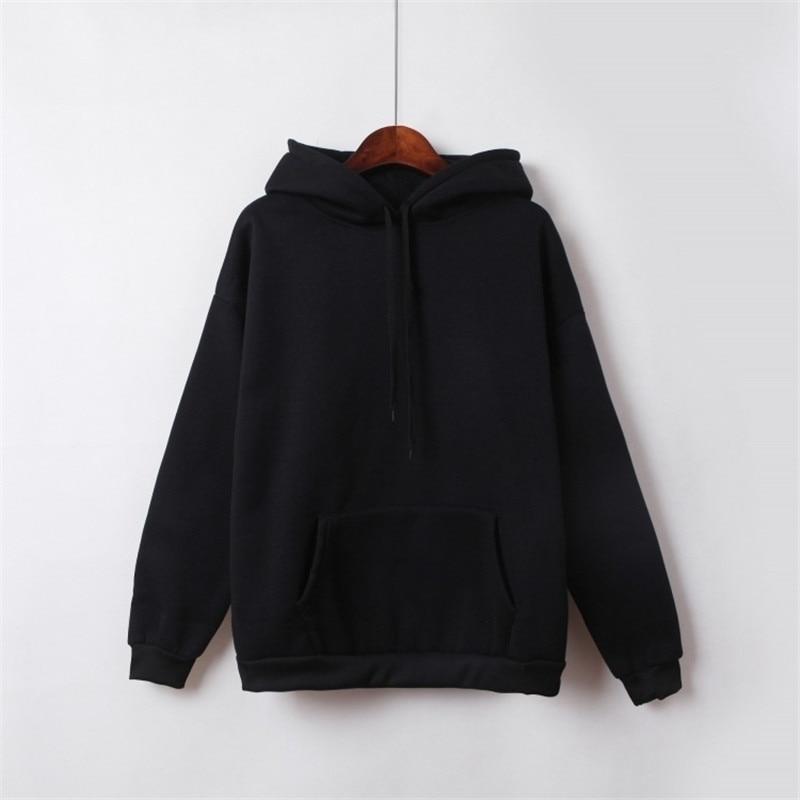 Hooded Tops Women's Sweatshirt Long-Sleeved Winter Velvet Thickening Coat 25