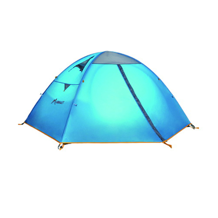 2 Persons Camping Tent Double Layer Outdoor Waterproof Tent For Beach Garden Backyard Picnic mobi garden outdoor camping tent 4 seasons double layer aluminum tent two rooms big camping tent super large 3 4 persons tent