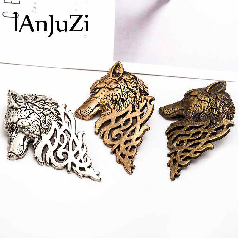 Homme Game of Thrones tête de loup broches col broche Badge Brosh Pin Animal Hombre costume épinglette Brosche pour Homme