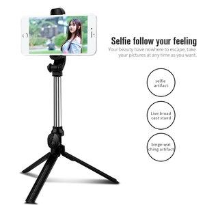 Image 5 - Bluetooth Selfie Bâton Trépied Obturateur À Distance Sans Fil Monopode Portable Pour iPhone 11 Pro Max 8 7 Plus Huawei Xiaomi Téléphone Titulaire