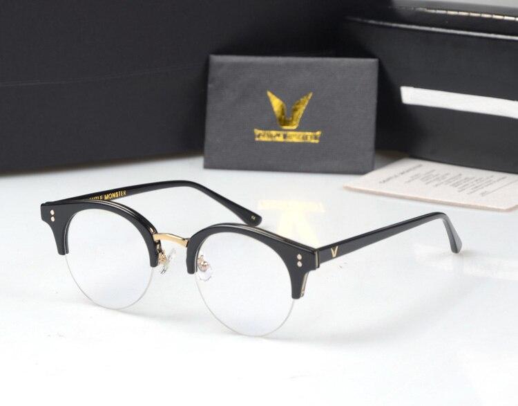 Suave pavana metal medio Marcos Gafas Marcos retro mujer hombres vidrio de  lectura UV protección lente transparente eyewear gafas e0b7006cf5