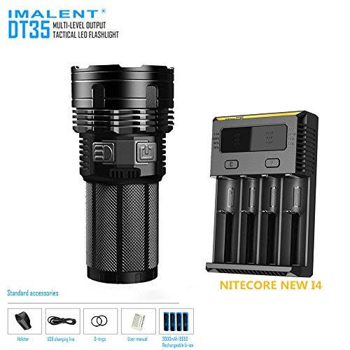 Факел imalent DT35 Max 8500LM 4 * XHP35 Hi светодиодов 1000 м фонарик + 4 шт. * 18650 3000 мАч батареи + <font><b>Nitecore</b></font> Новый I4 Smart Зарядное устройство