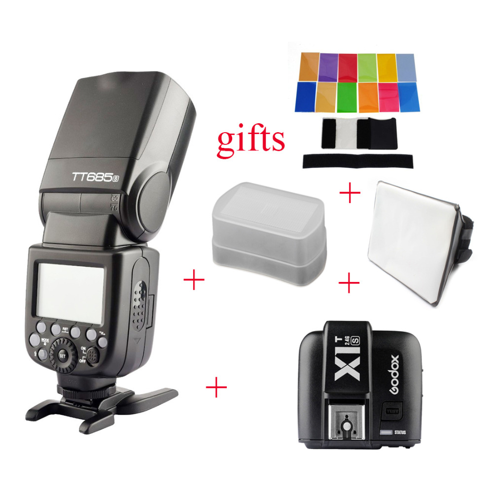 Hot Sale Godox Tt685s 24g Hss Ttl Ii Gn60 Camera Flash X1t S Untuk Sony Wireless Trigger For A7 A7r A7s A6300