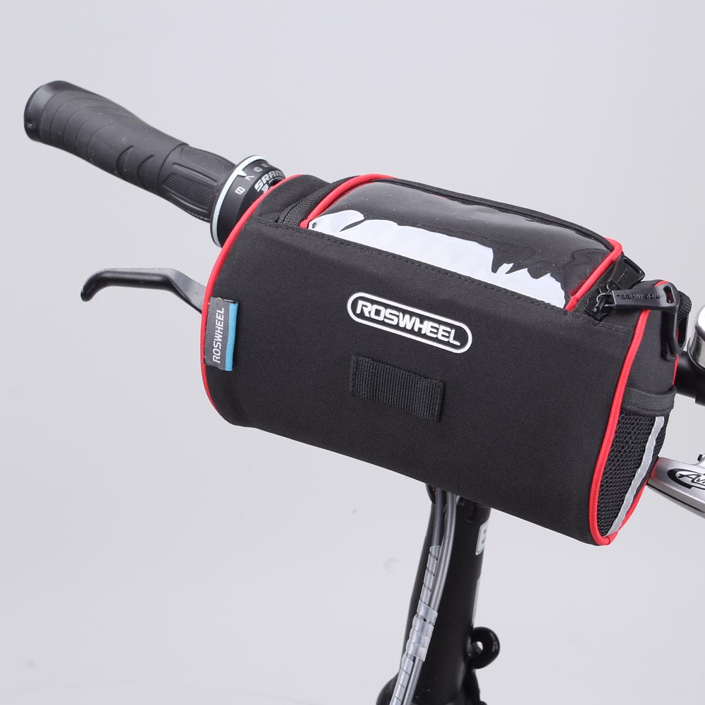 ROSWHEEL Bicycle Folding Bike Front Handlebar Bag Basket Transparent PVC Pouch